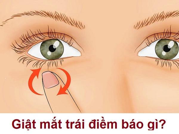 Mắt trái giật là điềm báo gì